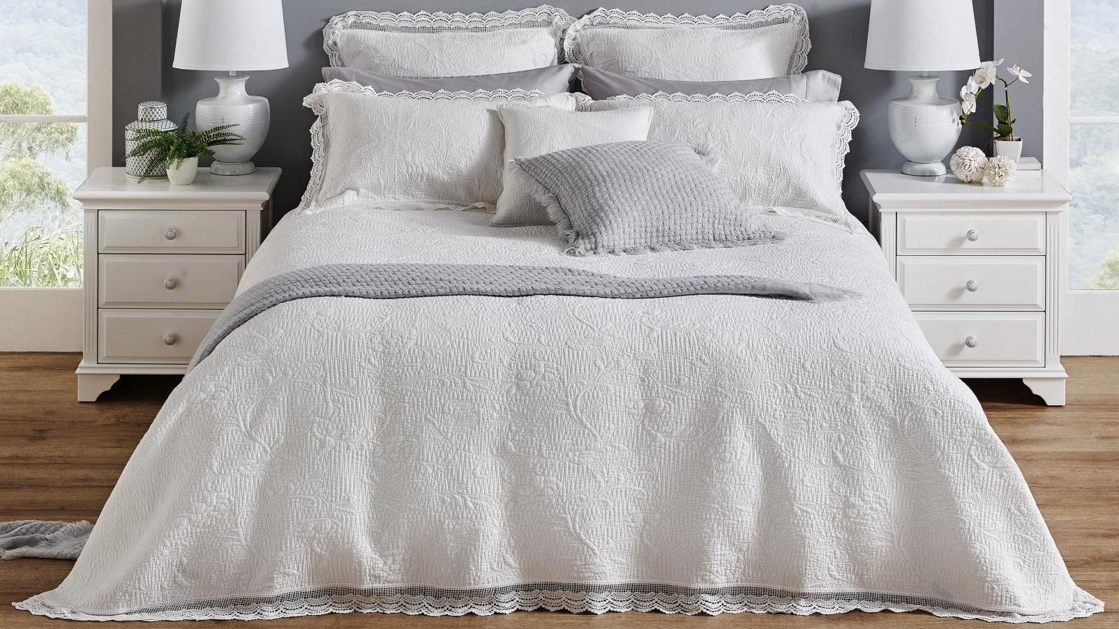 Buy L Avenue Tallulah White Coverlet Set Harvey Norman Au