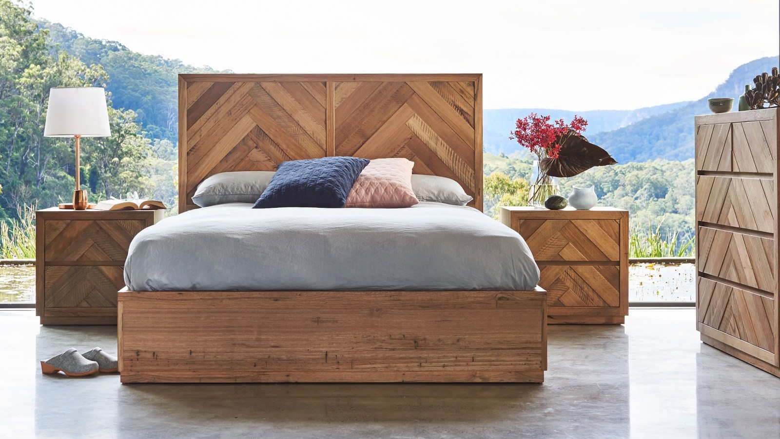 free shipping 04fb6 f13d5 Buy Herringbone Queen Bed | Harvey Norman AU