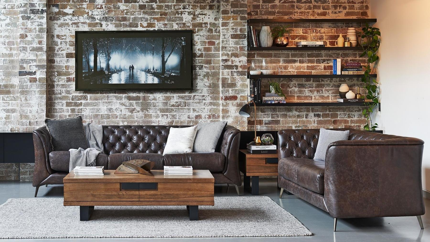 Buy Alden 3 Seater Leather Sofa Harvey Norman Au