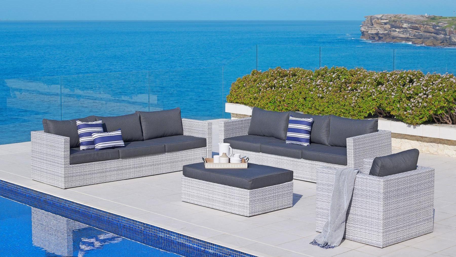 Buy Argos 4 Piece Outdoor Corner Modular Lounge Setting Harvey Norman Au