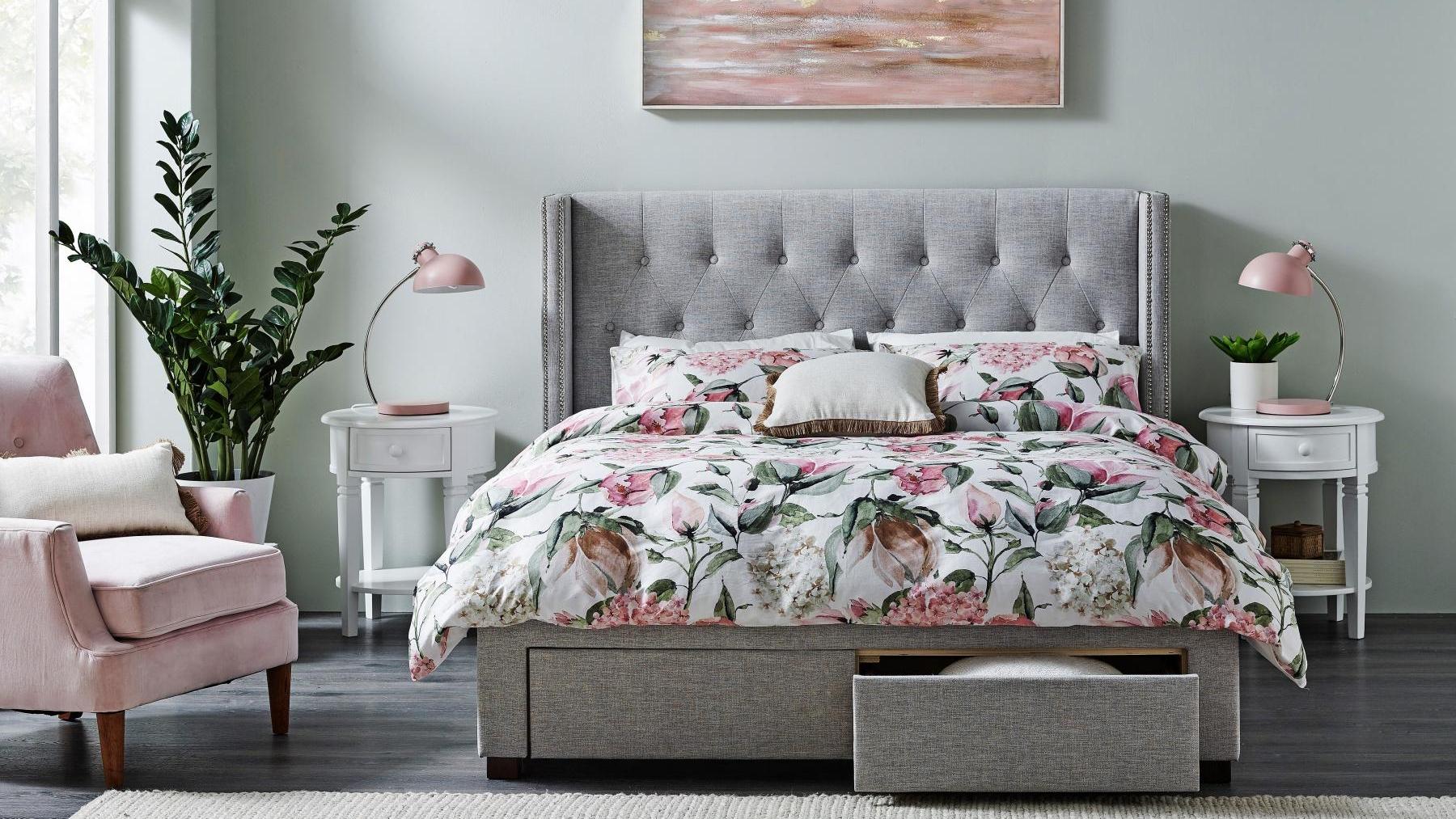 Buy Calista 4 Drawer Queen Bed Harvey Norman Au