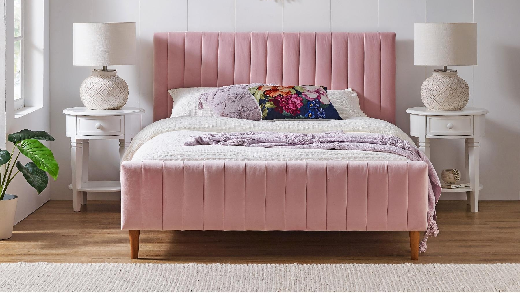Buy Alexa Double Bed Pink Harvey Norman Au