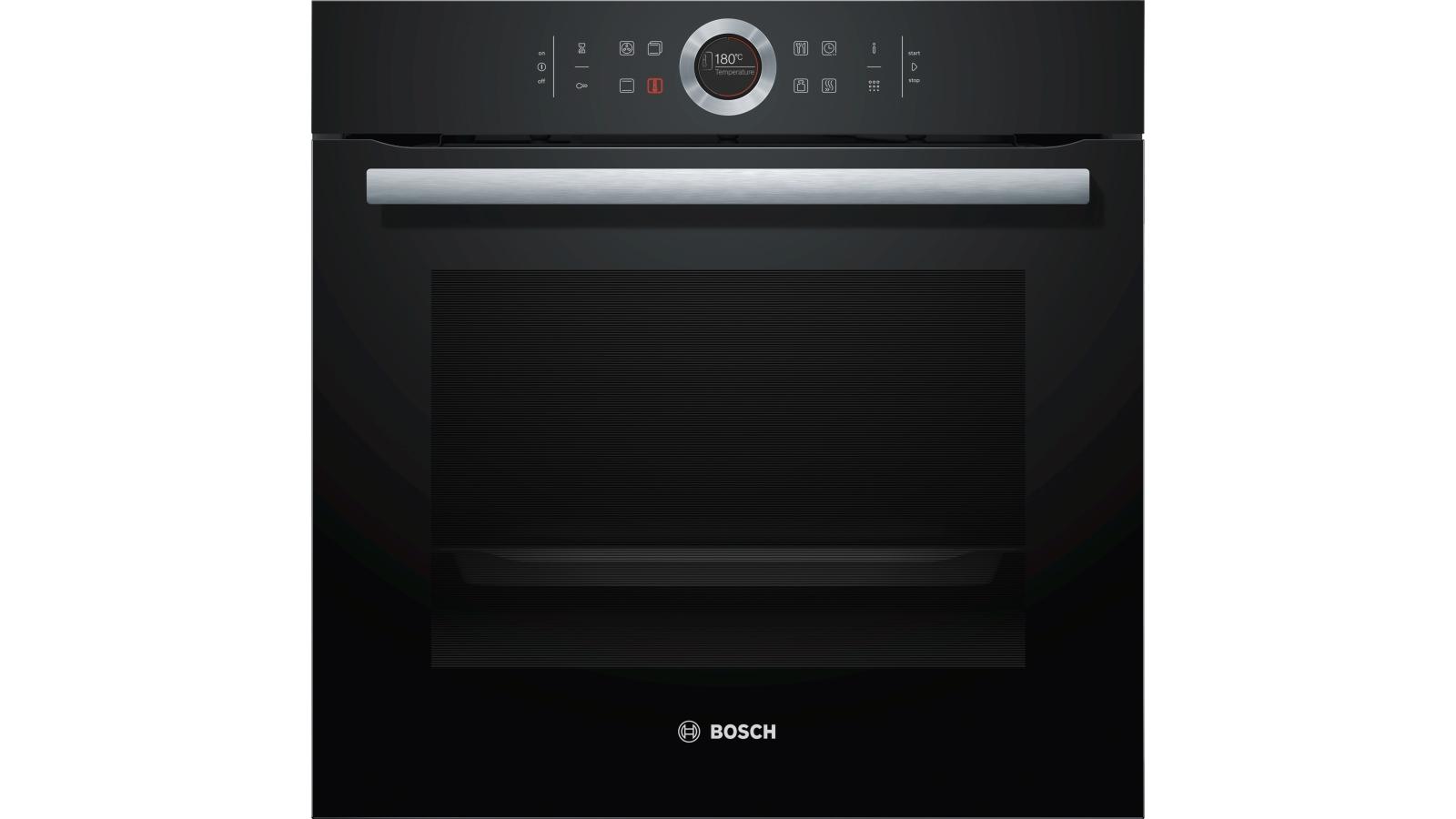 Buy Bosch Series 8 Black Glass Built In Pyrolytic Oven Harvey
