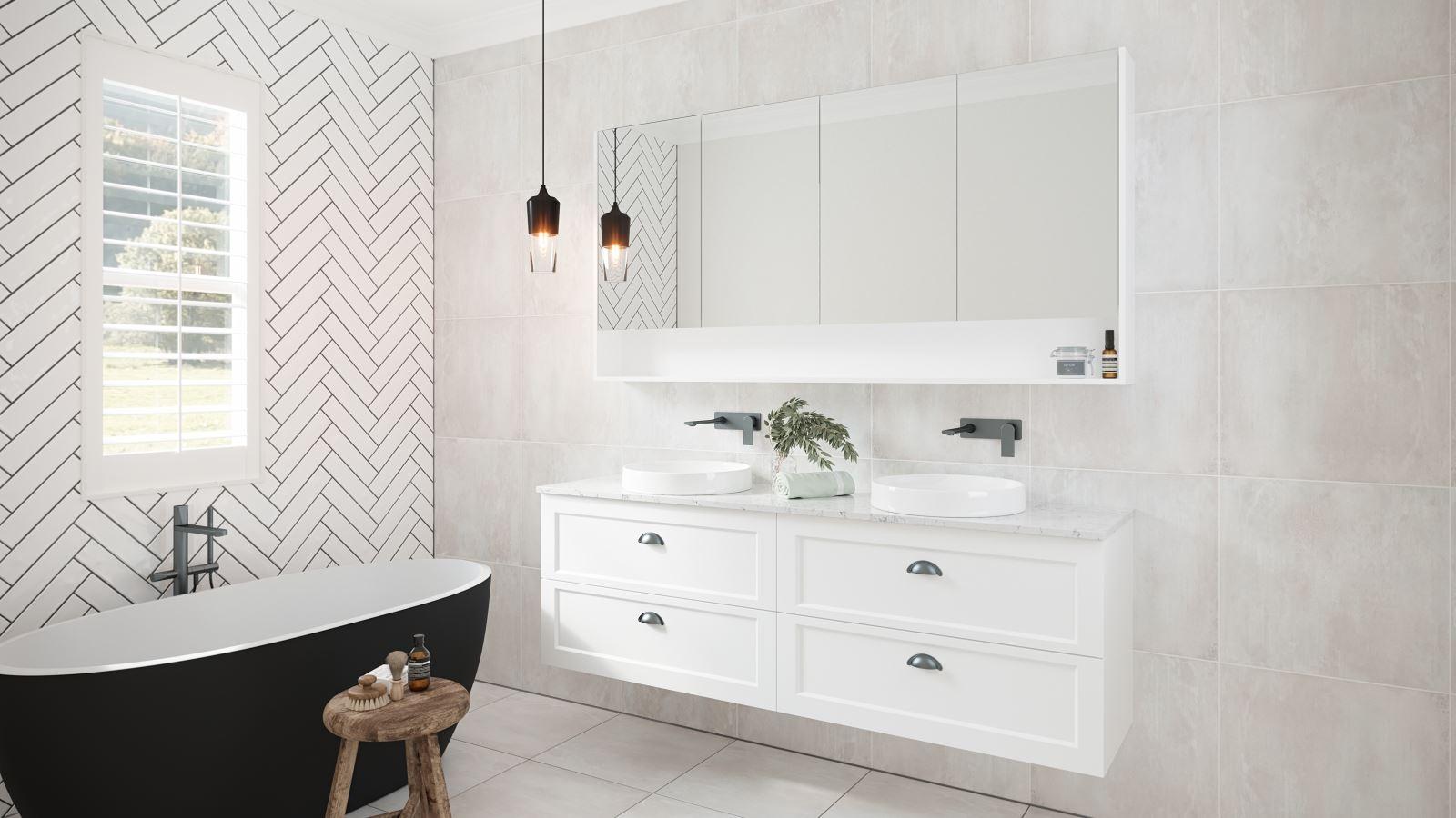 Timeberline Washington 1800mm, Shaker Style Vanity Bathroom