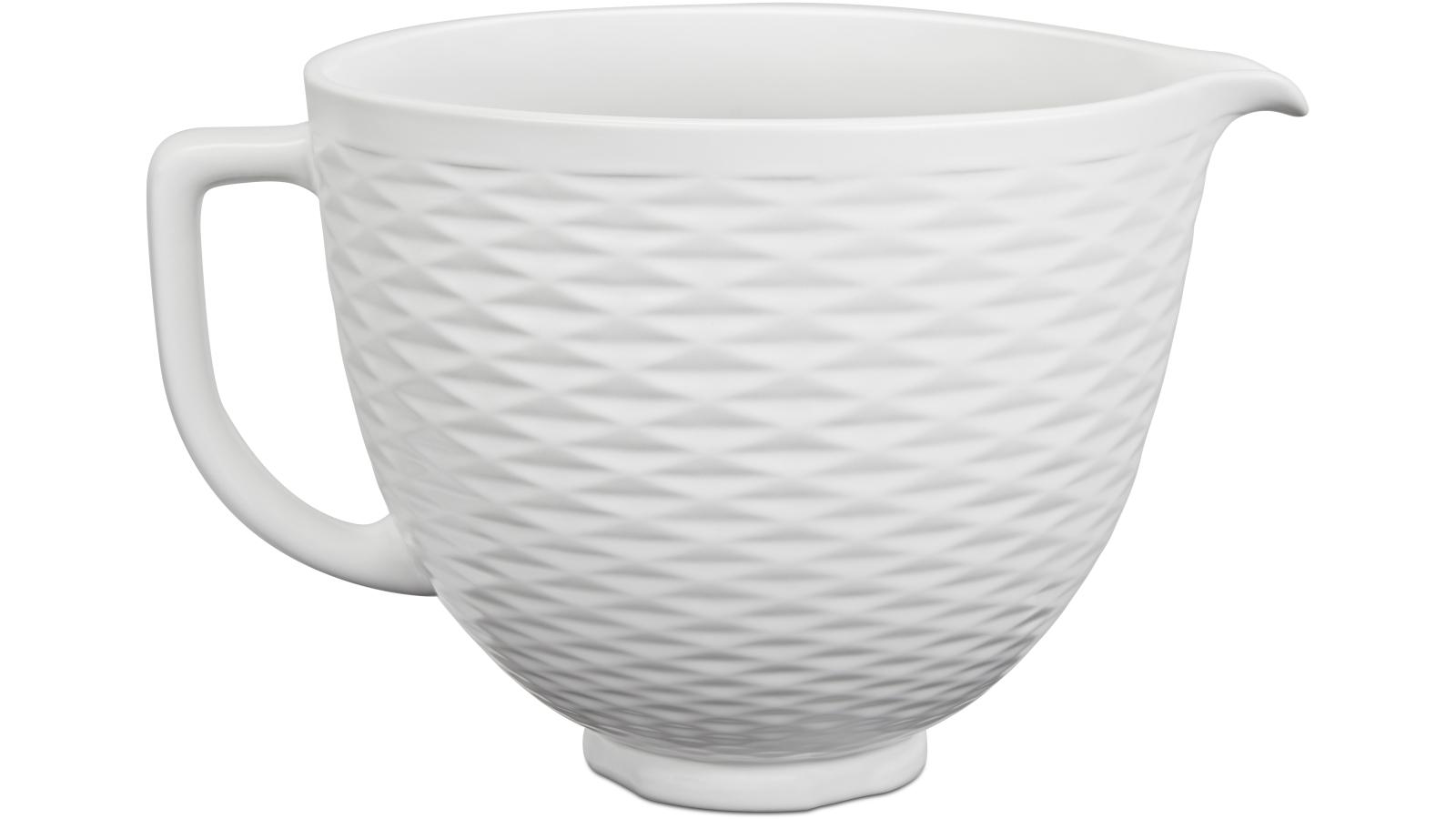 Image of KitchenAid Embossed White Chocolate Ceramic Bowl Stand Mixer Accessory