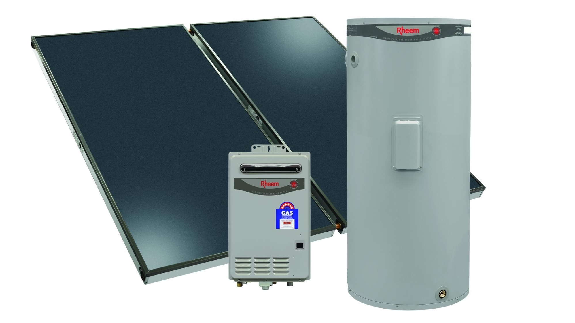 Buy Rheem Loline 270L Solar Hot Water System with Natural Gas ...