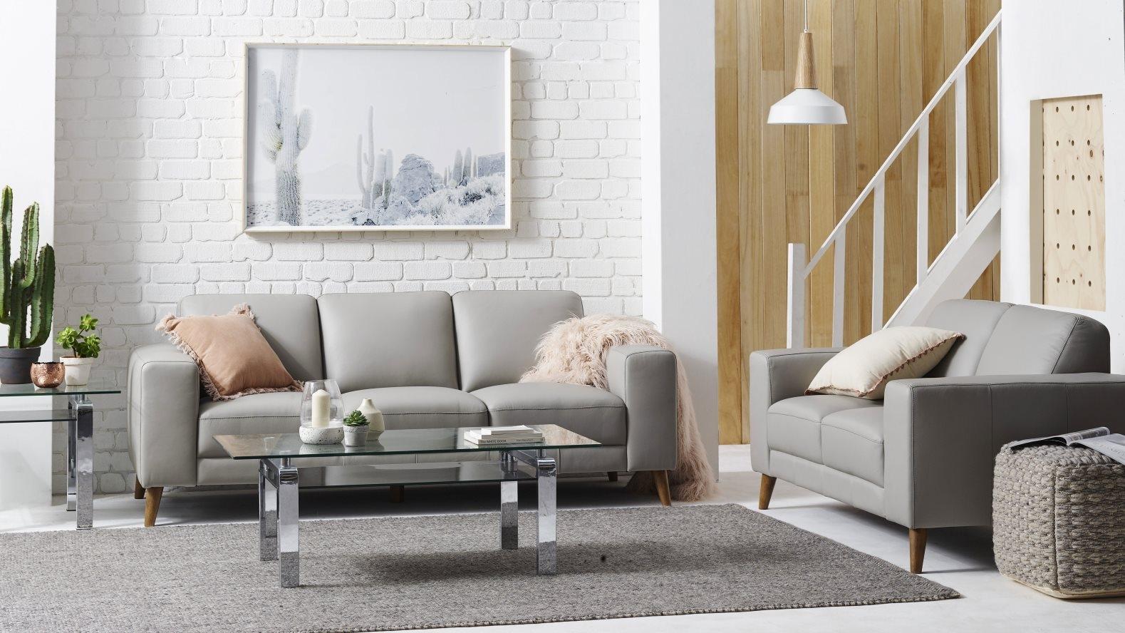 Buy magnum 2 piece leather lounge suite harvey norman au