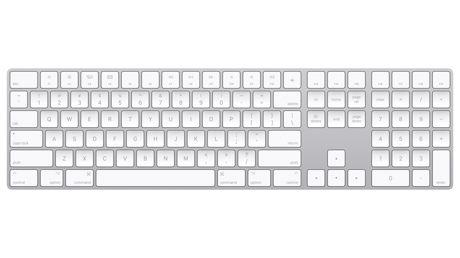 Image of Apple Magic Keyboard with Numeric Keypad - Silver