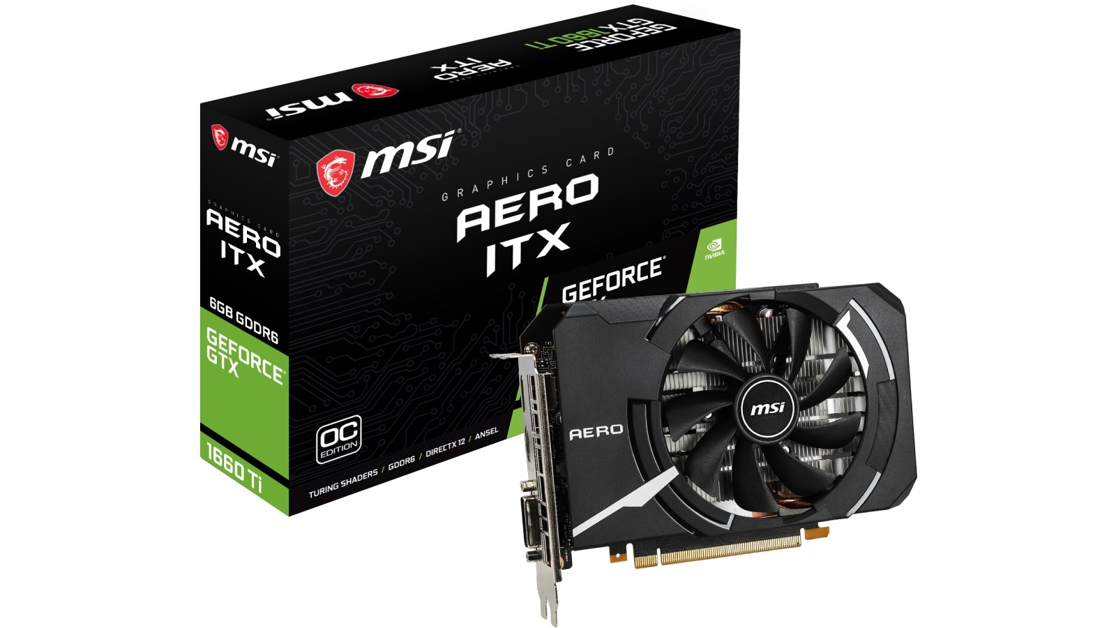 MSI NVIDIA GeForce GTX 1660Ti AERO ITX 6GB OC Graphic Card