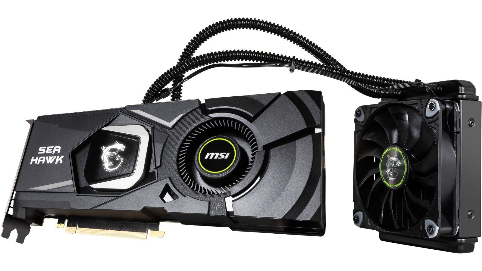 MSI NVIDIA GeForce RTX 2080 Ti Sea Hawk X 11GB Graphics Card
