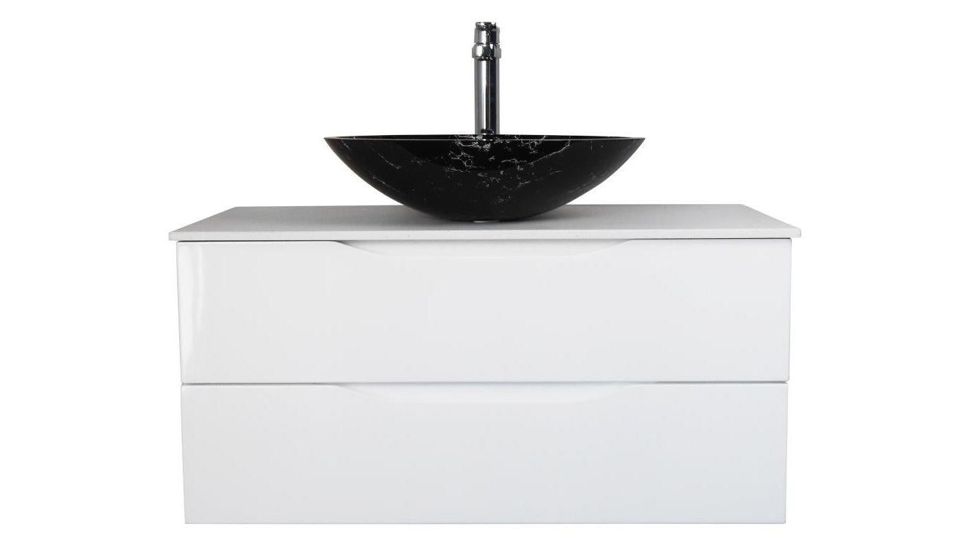 Buy Ledin Preston 1200 Stone Benchtop Vanity with Above Counter ...