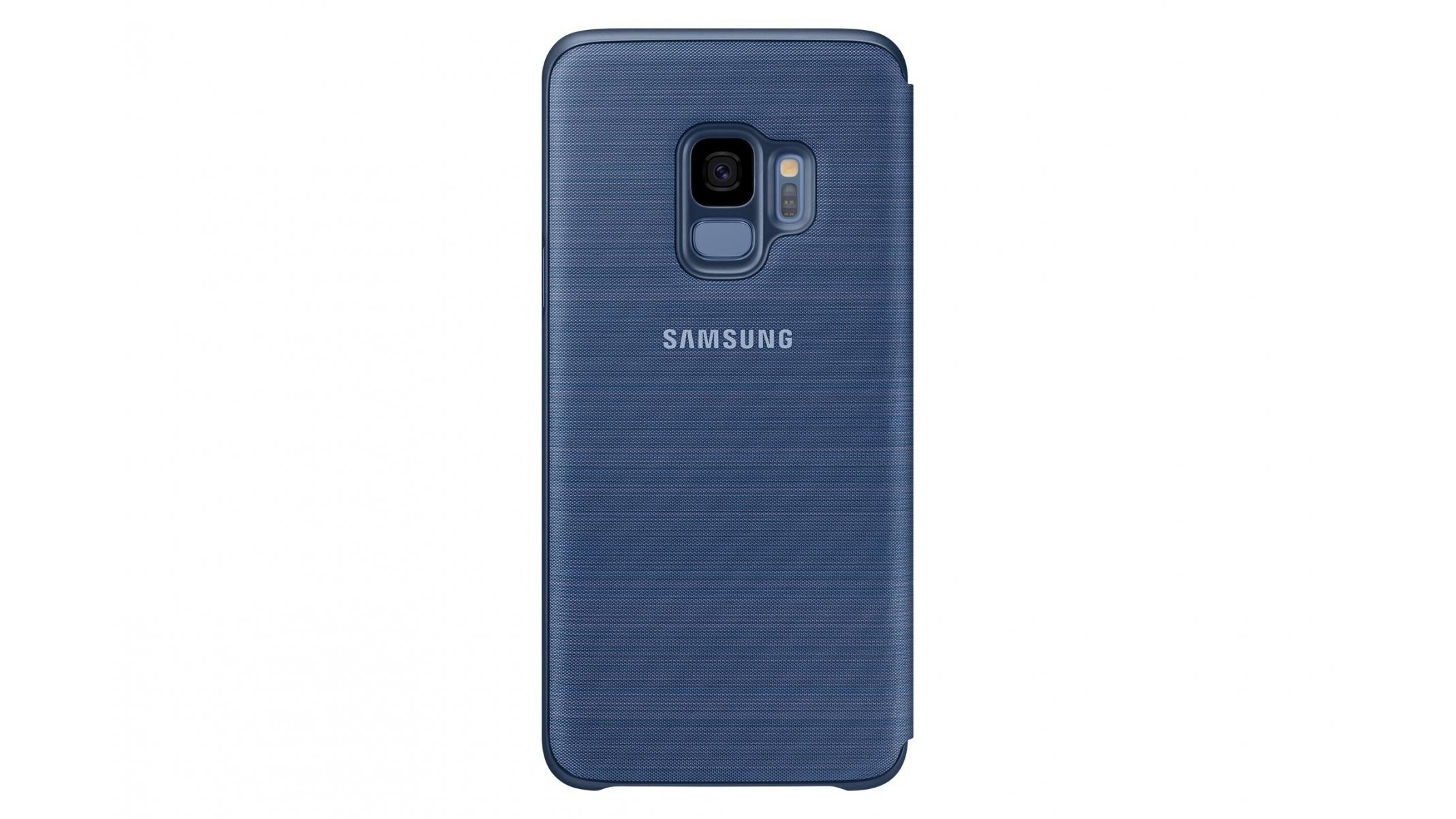 finest selection b02f3 aaacc Samsung Galaxy S9 LED View Cover - Blue