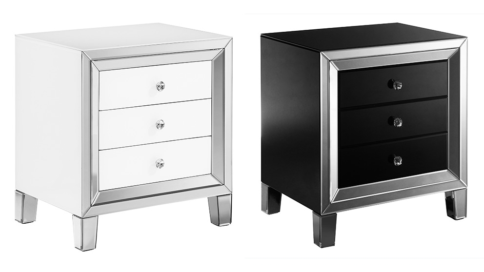 ritz 3 drawer bedside table
