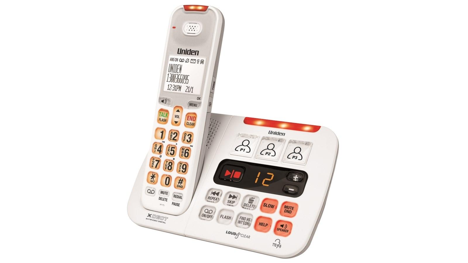 Buy Uniden Sse45 Sight Sound Enhanced Cordless Phone White Car Alarm Wiring Diagram Harvey Norman Au