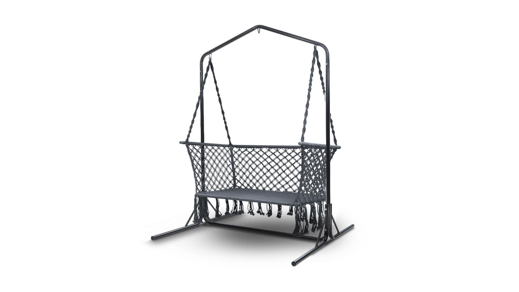 Gardeon Outdoor Swing Hammock Chair With Stand Grey