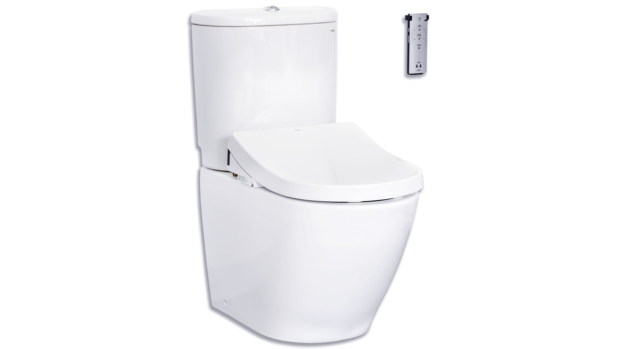 Buy Toto Basic Toilet With Tornado Flush D Shape Washlet W Remote Control Package Harvey Norman Au