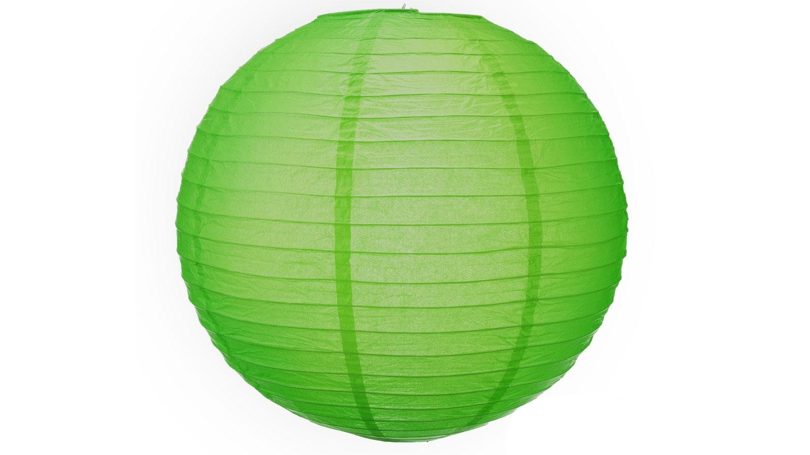 Image of Accents 12-inch Paper Lanterns - Green