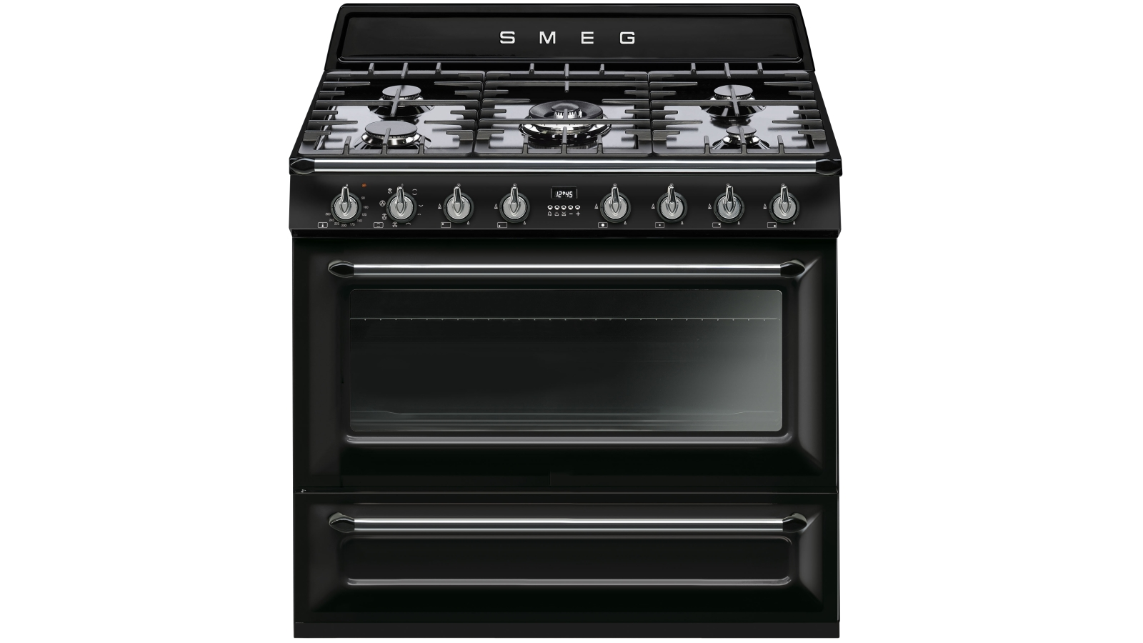 Image of Smeg 900mm Victoria Collection Freestanding Cooker - Black