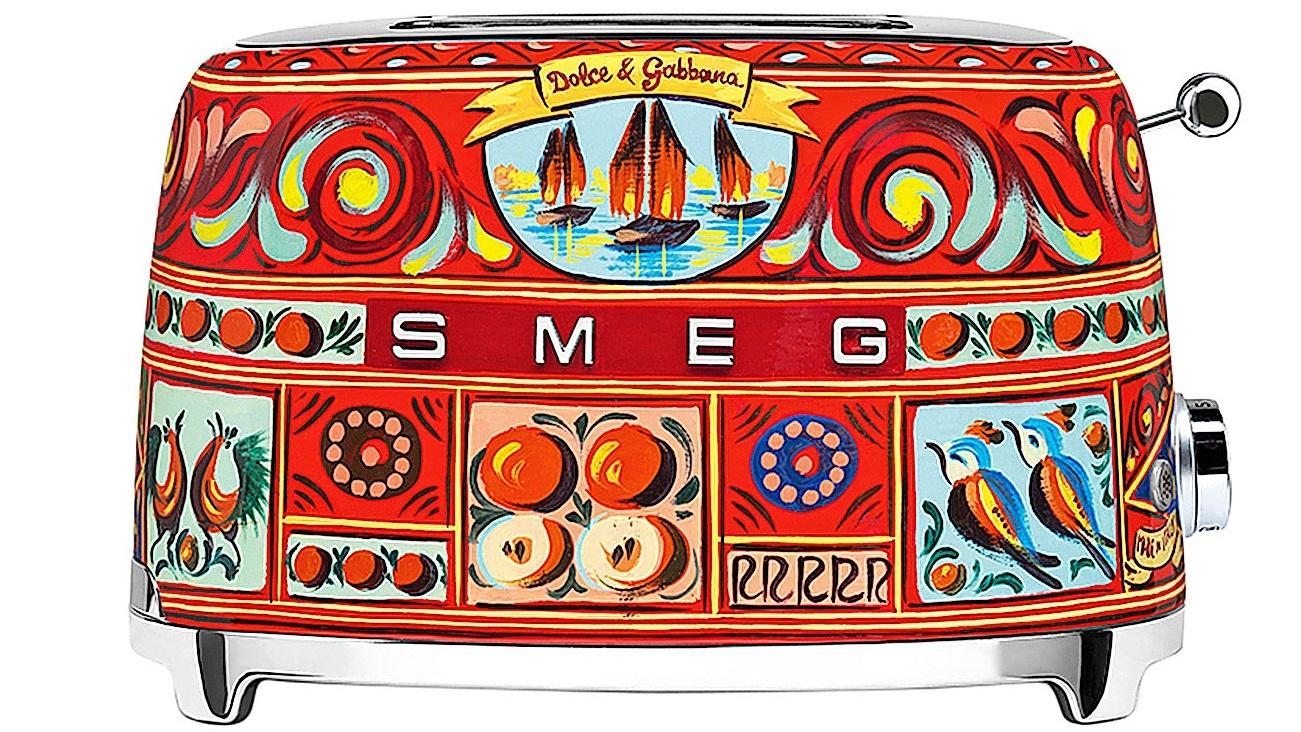 Buy Smeg Dolce Gabbana 2 Slice Toaster Sicily Is My Love Harvey Norman Au
