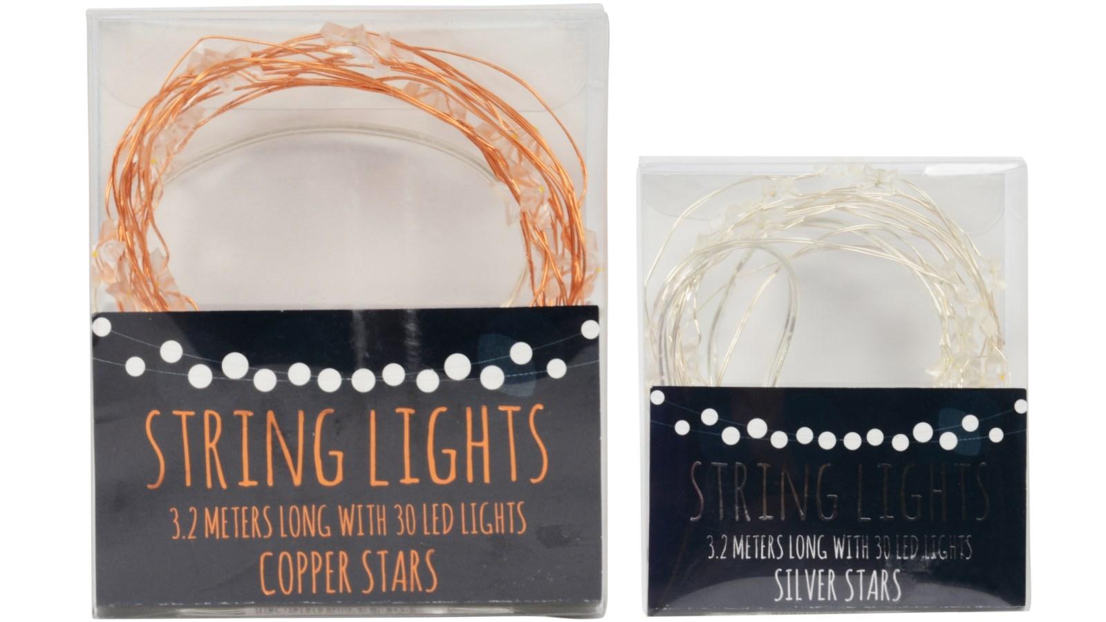 Image of 3.2m String Light with 30 Star LED Lights