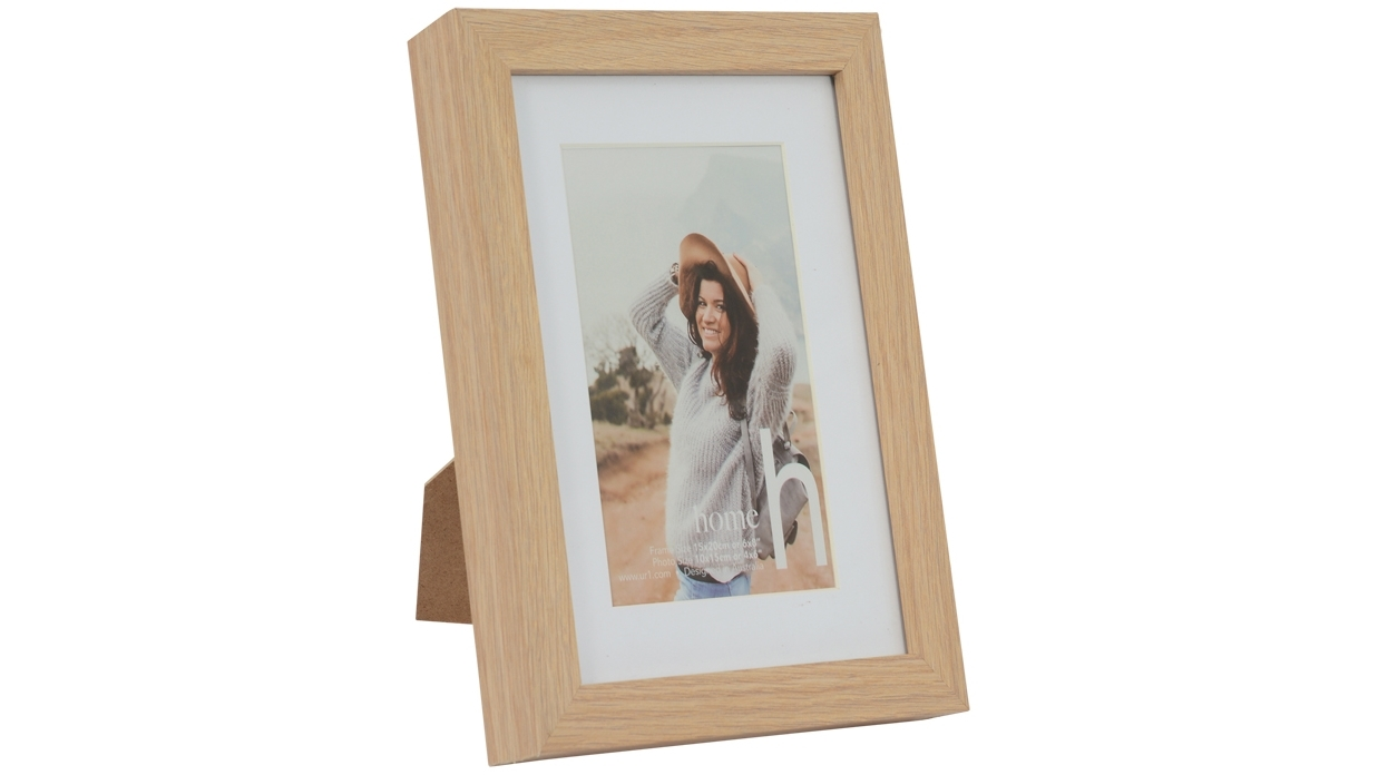 Image of UR1 Home 6x8-inch Oak Photo Frame with 4x6-inch Opening
