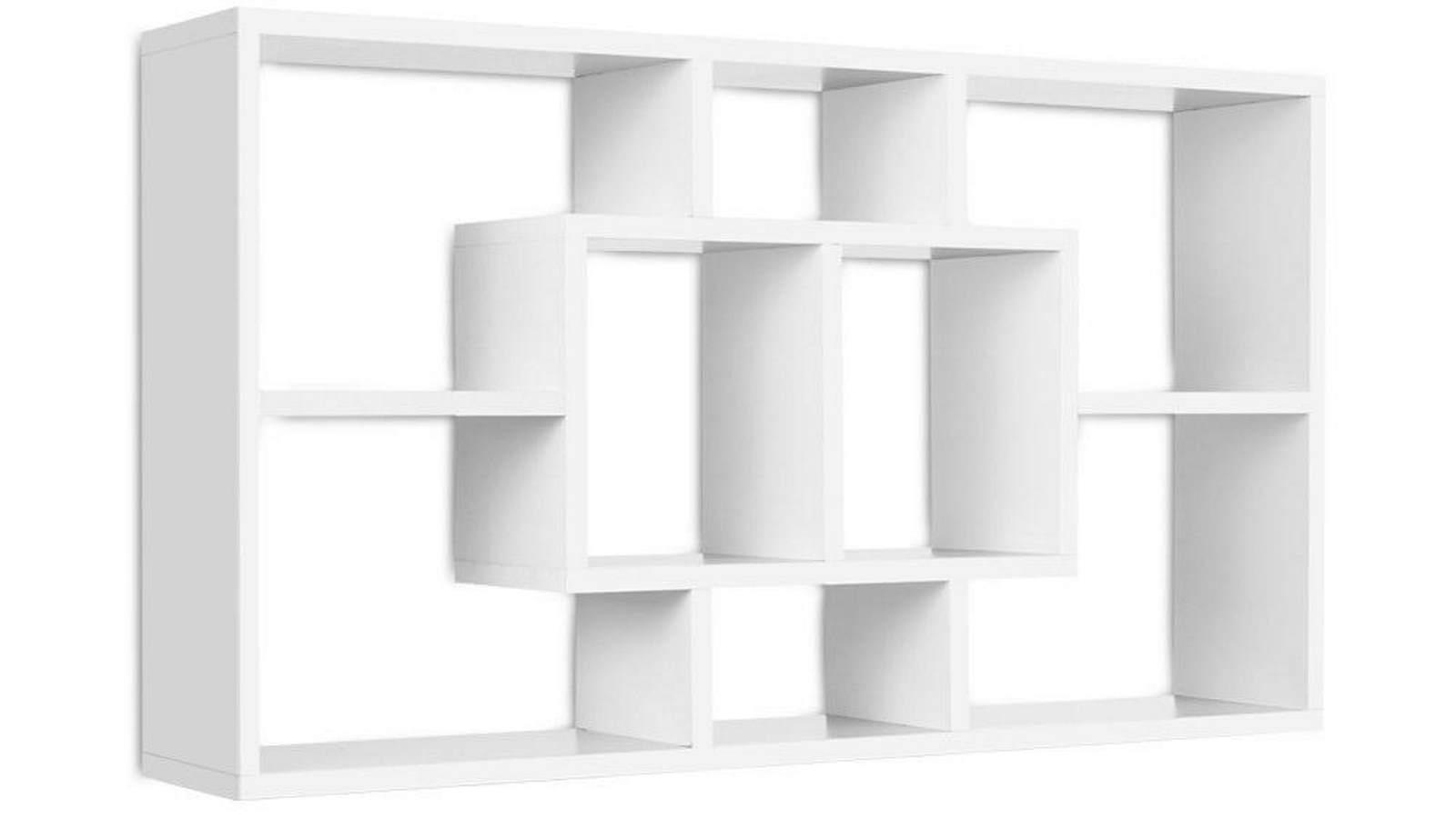 artiss 3 piece floating shelf set white