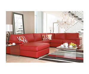 5 seater leather lounge with chaise