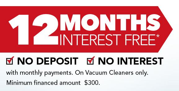 12 Months Interest Free – With Monthly Payments
