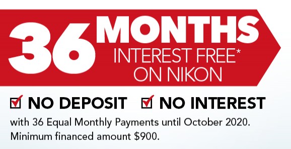 36 Months Interest Free - With Equal Monthly Payments