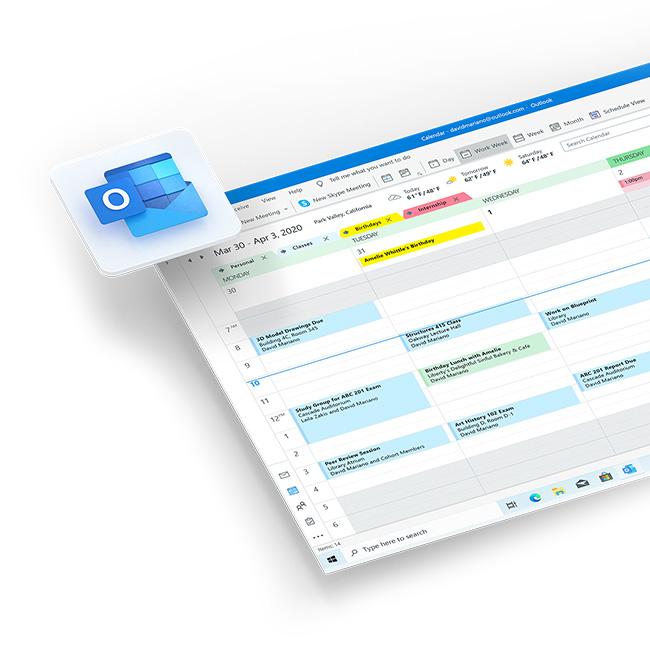 Microsoft 365 Outlook app