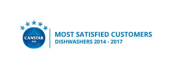 Canstar Blue Most Satisfied Customers Award, Dishwashers, 2014-2017