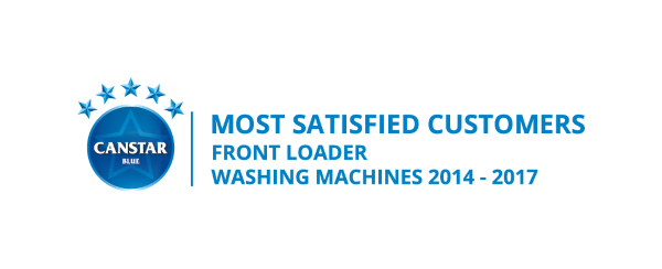 Canstar Blue Most Satisfied Customers Award, Front Loader Washing Machines, 2014-2017