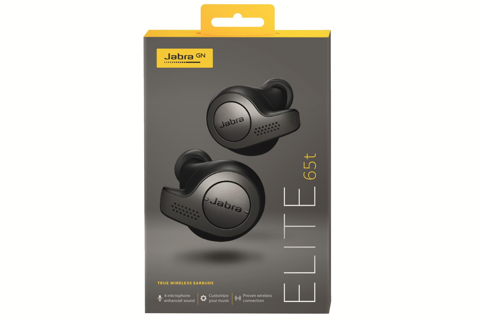 The Jabra Elite 65t True Wireless Earbuds