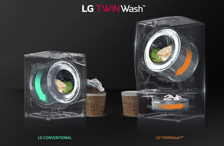 Buy Lg Twin Wash 16kg 9kg Front Load Washer And Dryer