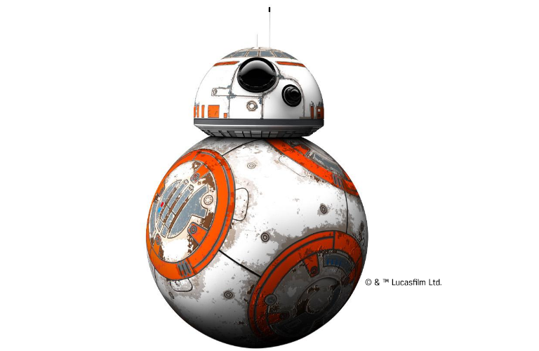 BB-8 rolling around