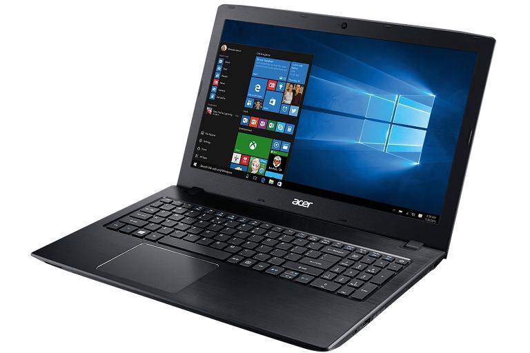 The Aspire E5 running Windows 10