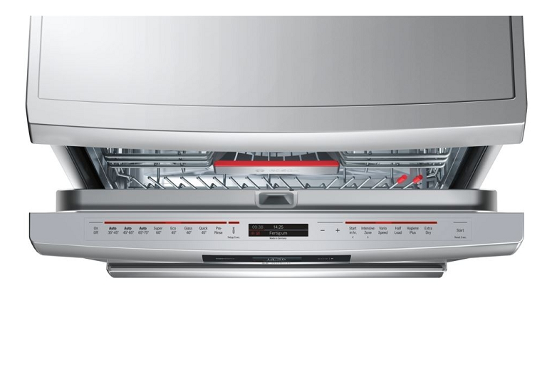 The Bosch 60cm dishwasher with door ajar