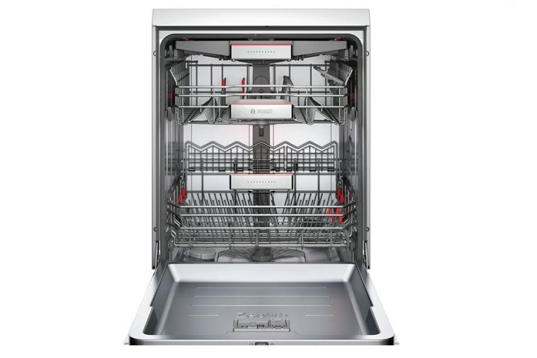 The Bosch Serie 8 Dishwasher with door open