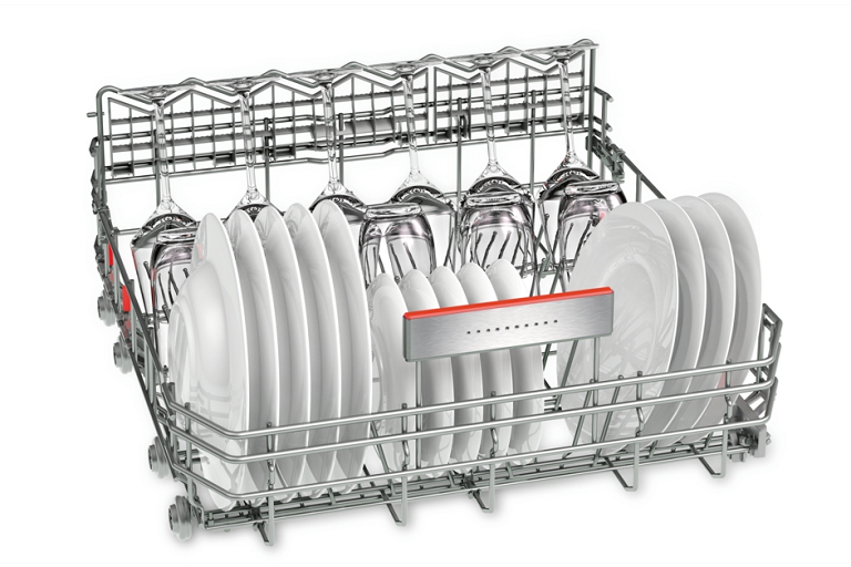 The lower rack of the ActiveWater dishwasher