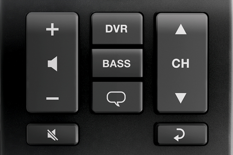 Close image of the Bose Solo 5 remote control