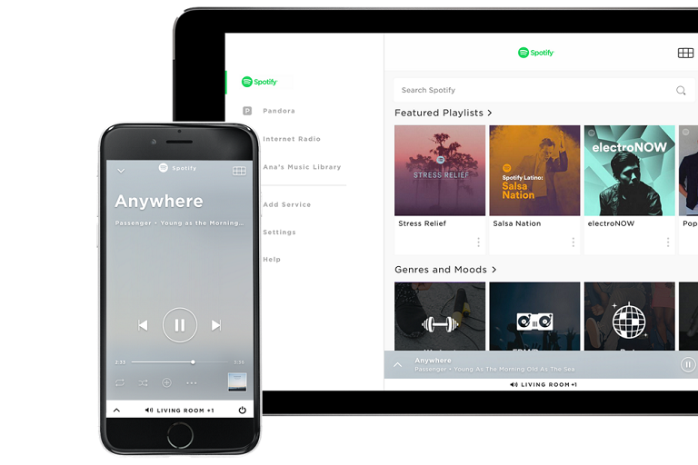 Streaming music from your smart phone or tablet