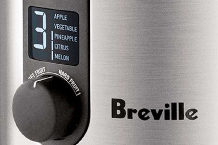 The Breville Juicer's control panel