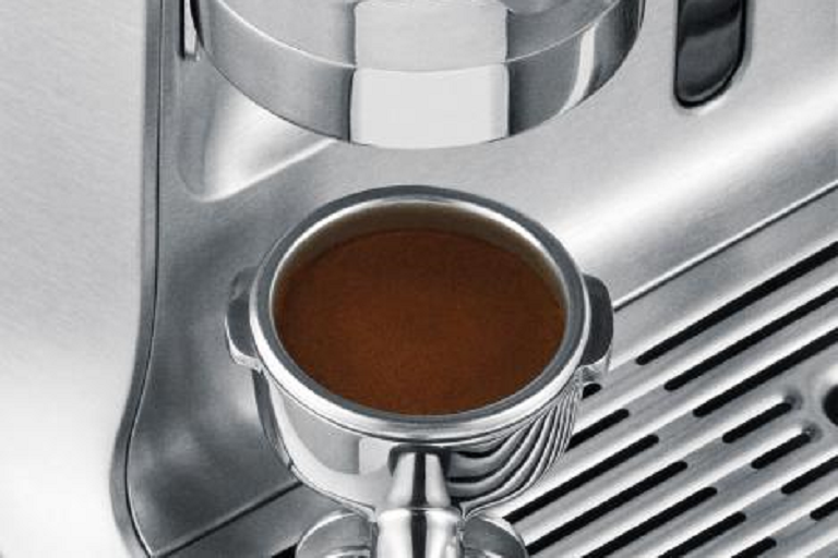 Making coffee with the Breville Espresso Machine