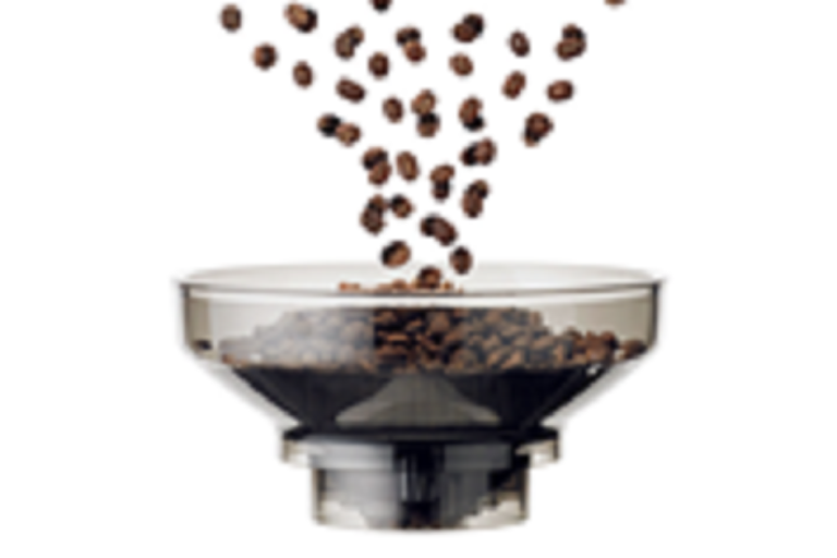 The Breville coffee machine bean grinder