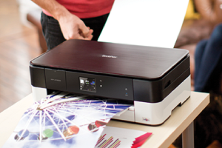 The Brother Multifunction Printer quickly produces high-quality prints