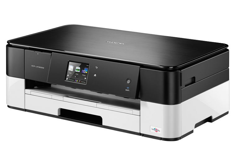 Angled view of the Brother DCP-J4120DW Inkjet Printer