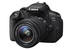 The Canon 700D DSLR Camera with lens