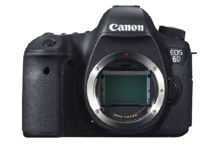 Front view of the Canon camera