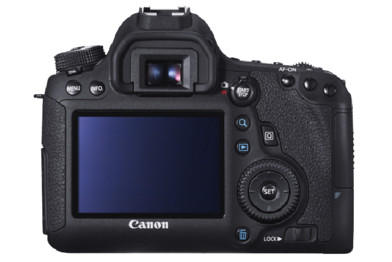 Side view of the Canon 6D SLR