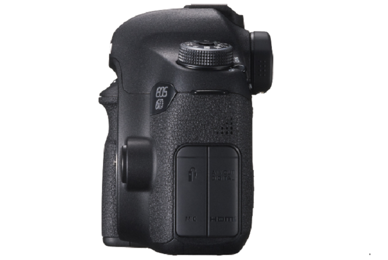 Rear view of the Canon EOS 6D camera